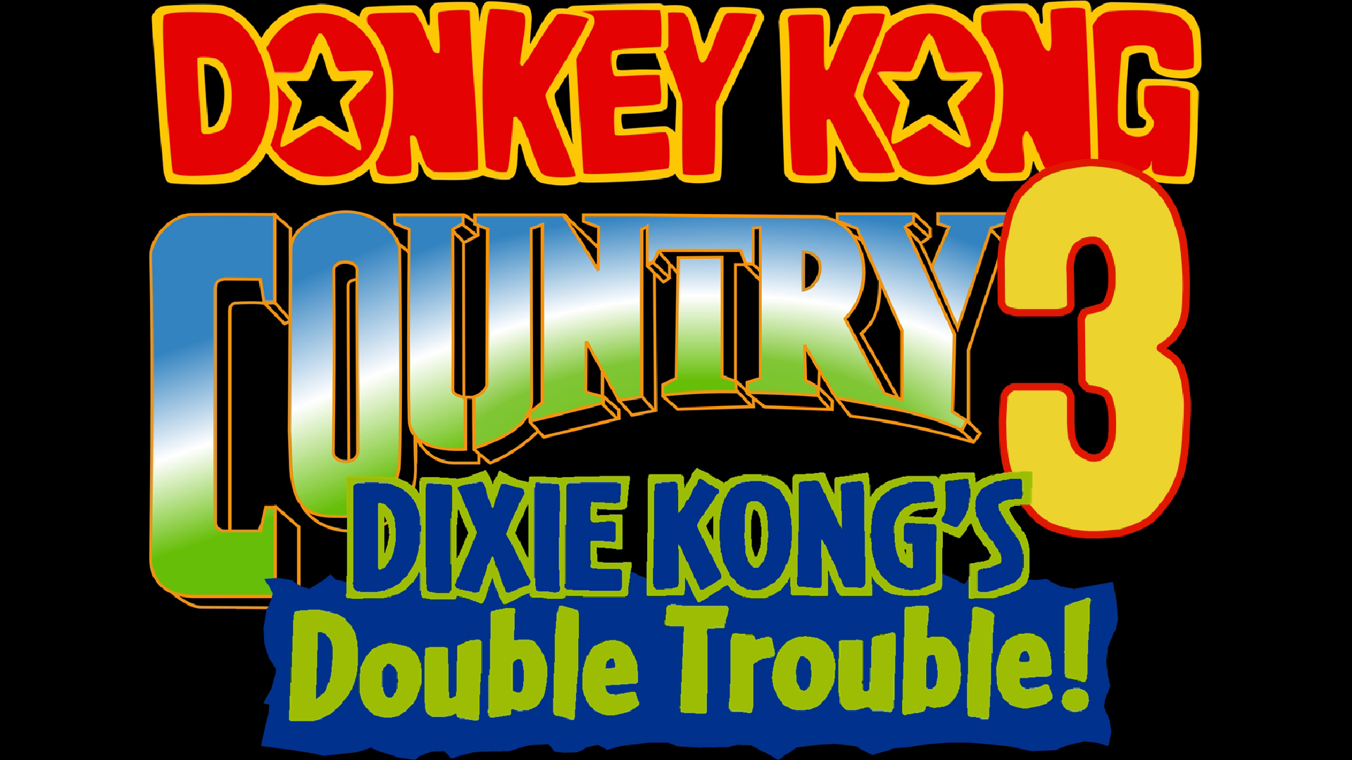 Donkey Kong Country 3: Dixie Kong's Double Trouble! (SNES) Logo