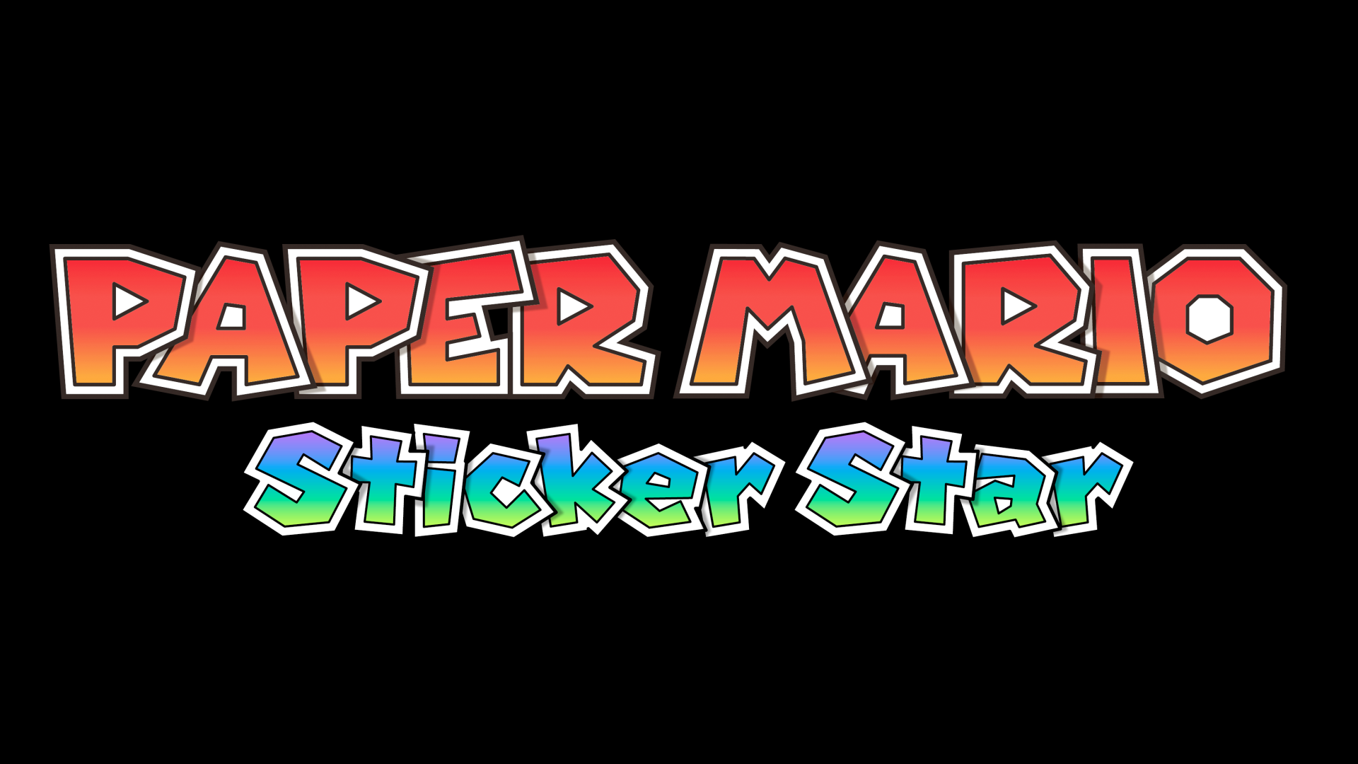 Paper Mario: Sticker Star Logo