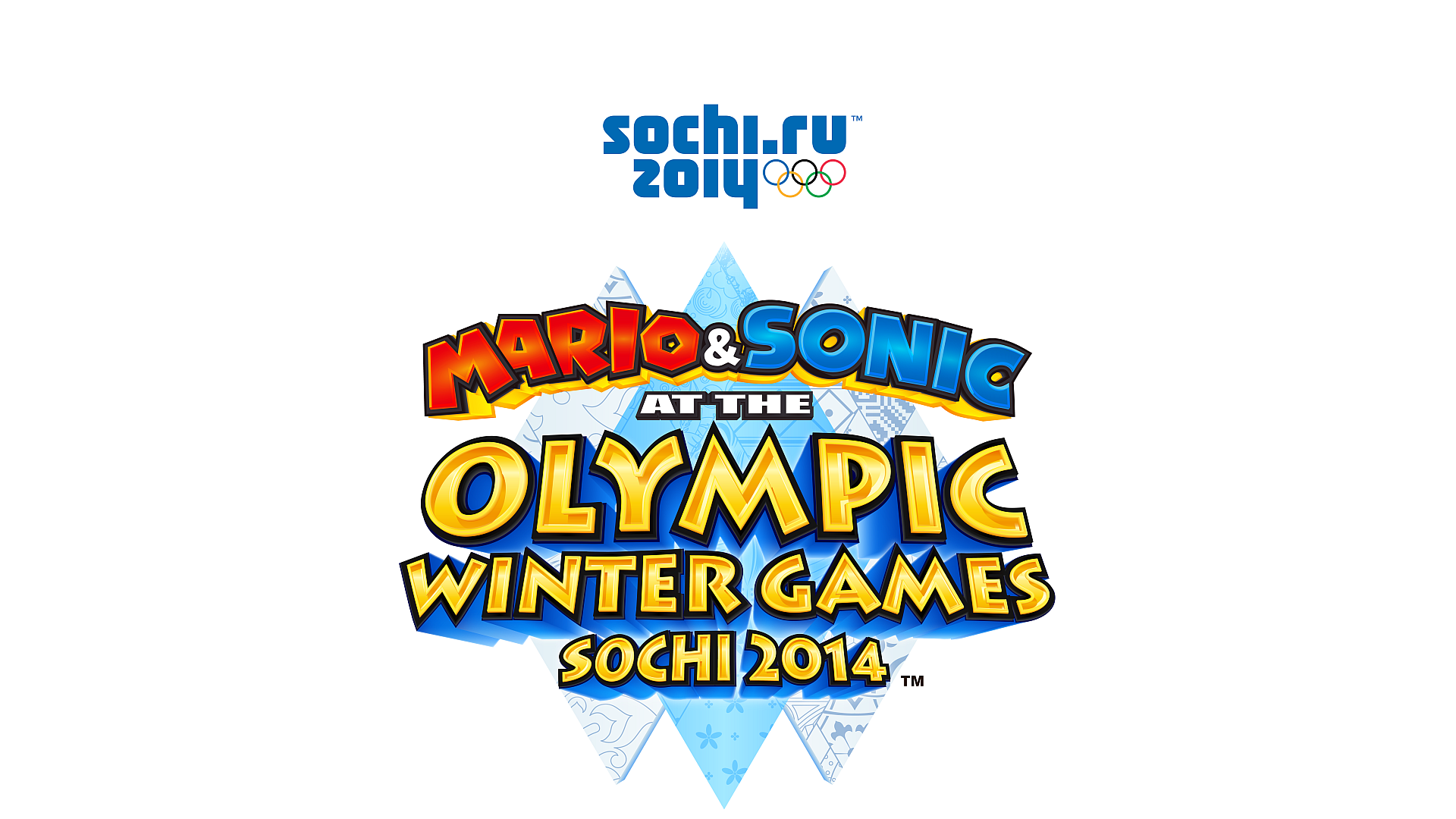 Mario & Sonic at the Sochi 2014 Olympic Winter Games Logo