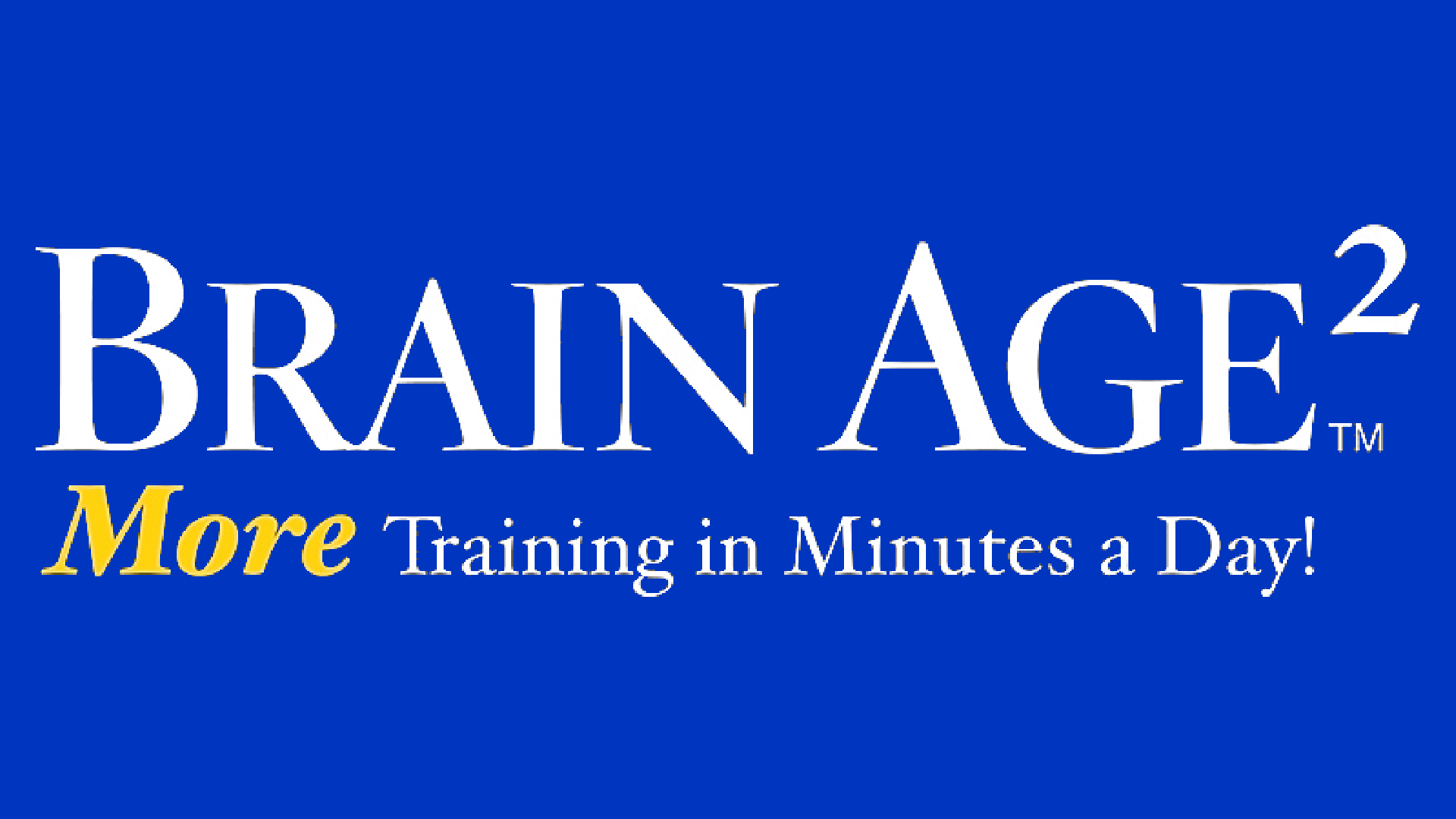 Brain Age 2: More Training in Minutes a Day! Logo