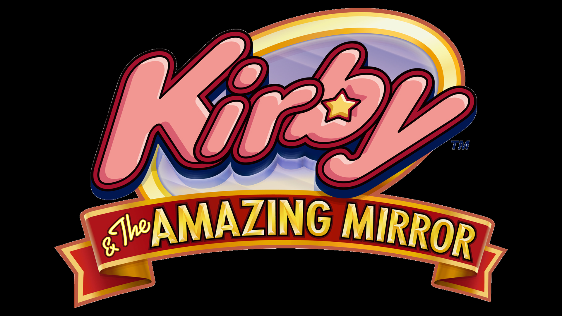 Kirby & The Amazing Mirror Logo
