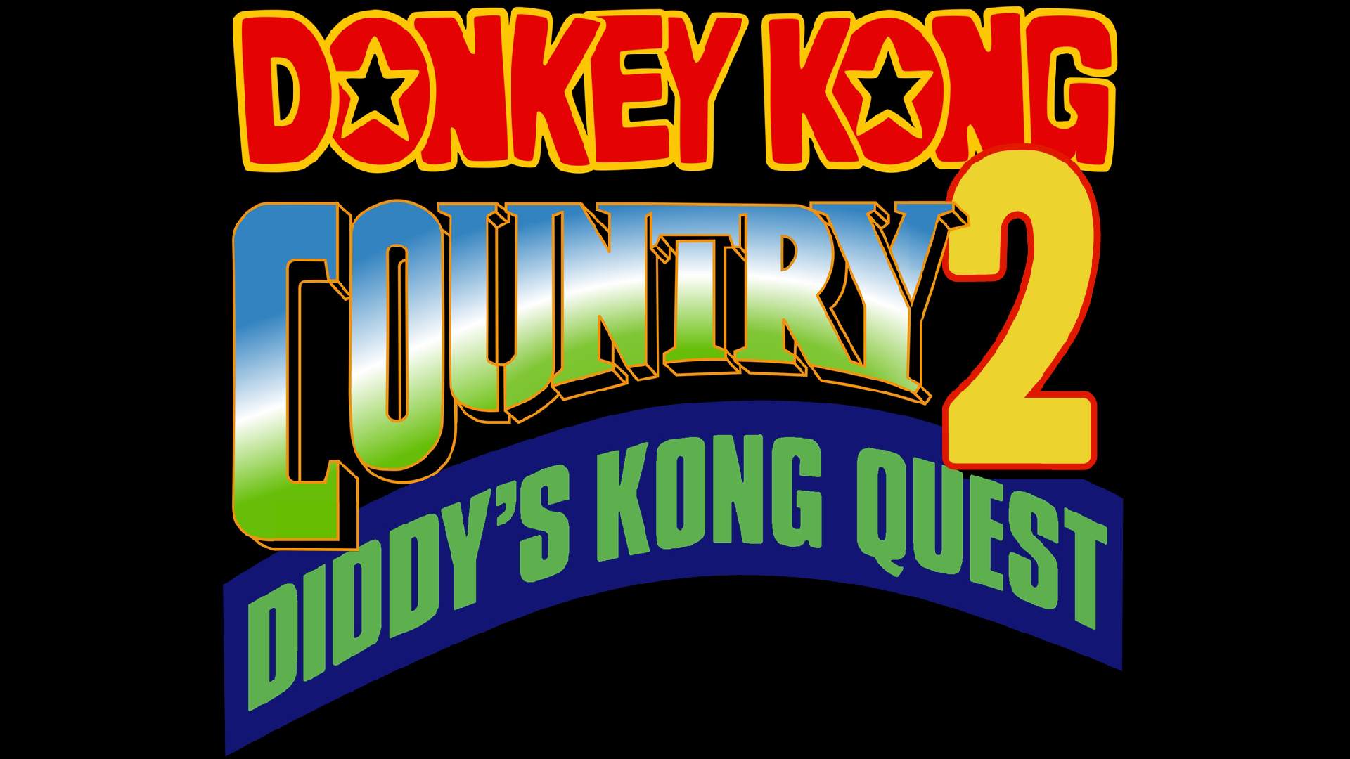 Donkey Kong Country 2: Diddy's Kong-Quest (SNES) Logo