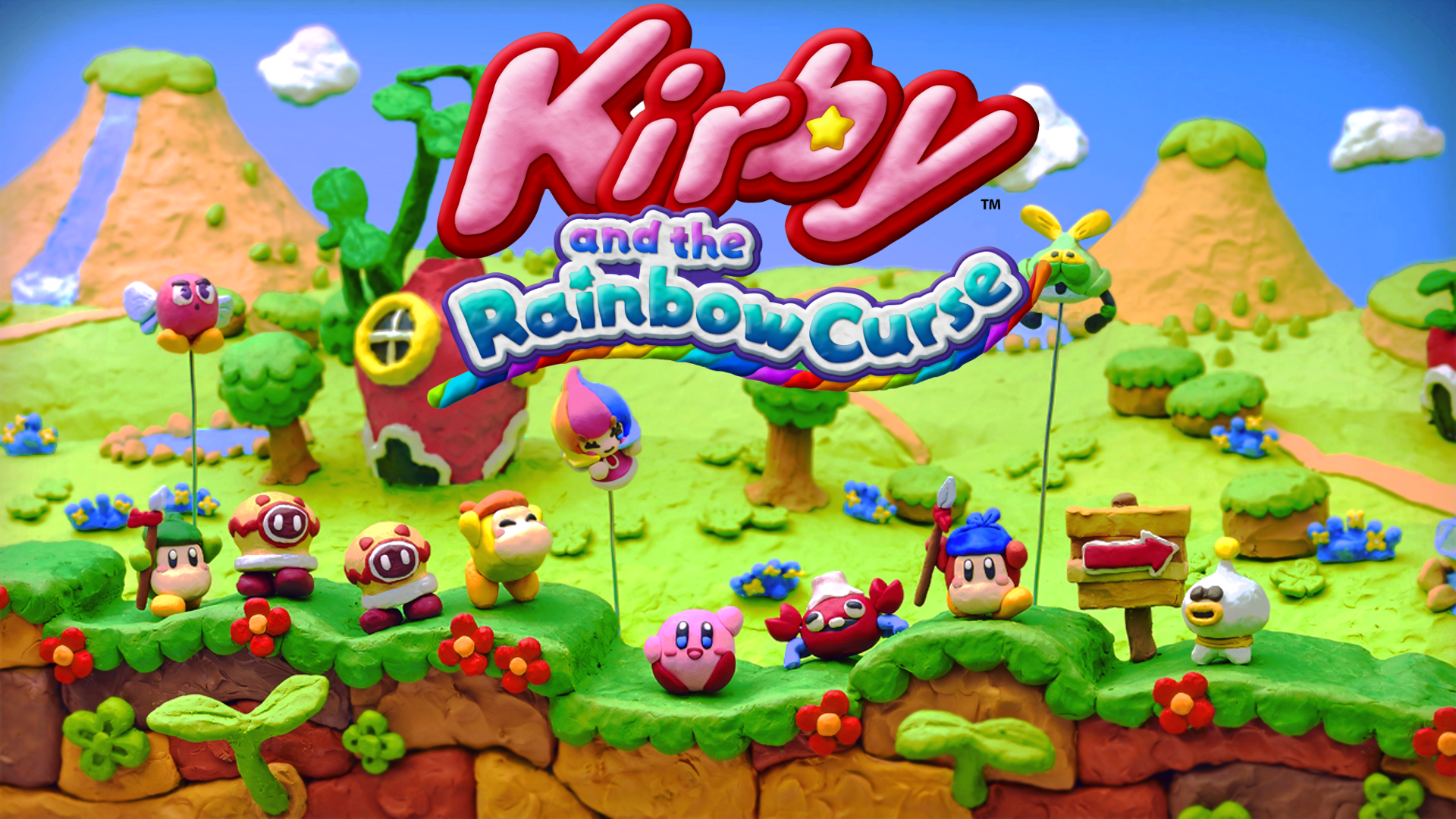 Kirby and the Rainbow Curse Logo